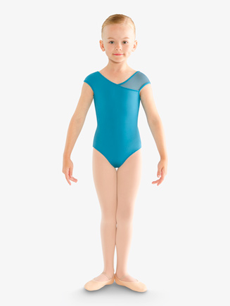 Girls Mesh Cap Sleeve Leotard - Style No CL9502S