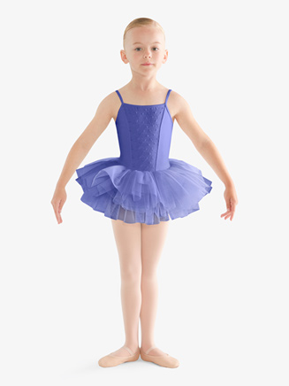 Girls Eyelet Camisole Ballet Tutu Dress - Style No CL9577