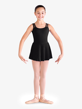 Girls Daisy Mesh Tank Ballet Dress - Style No CL9825x