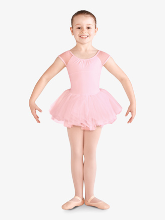Girls Daisy Mesh Short Sleeve Ballet Tutu Dress - Style No CL9962x
