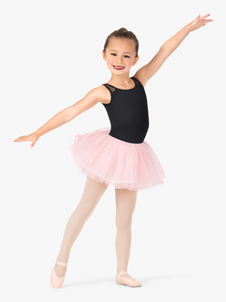 Girls Pearl Studded Ballet Tutu - Style No CR5681