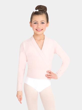 Girls Classic Knit Wrap Sweater - Style No CS301C