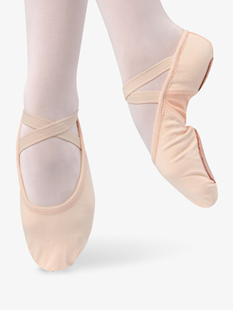 Womens Stretch Canvas Split Sole Ballet Shoes - Style No D497