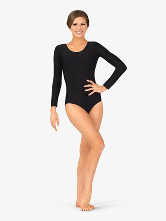 Adult Scoop Neck Long Sleeve Dance Leotard - Style No D5103