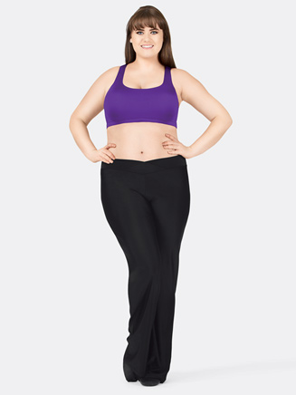 Adult Plus Size Nylon V-Front Jazz Pant - Style No D5107W