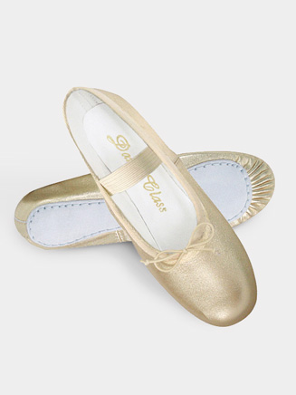 Adult Full Sole Gold/Silver Leather Ballet Slipper - Style No DCB902