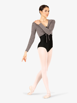 Womens Front Tie Long Sleeve Warm Up Shrug - Style No DS5278