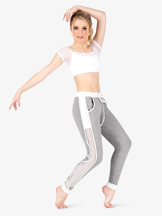 Womens Mesh Insert Active Sweat Pants - Style No DS5284