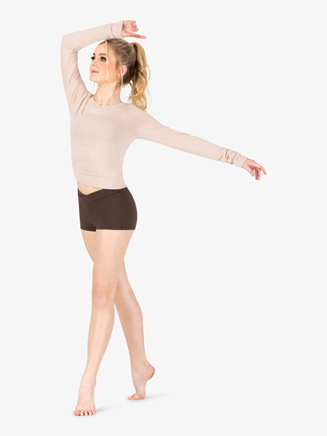 Womens Back Cutout Warm Up Sweater - Style No DSJ1345
