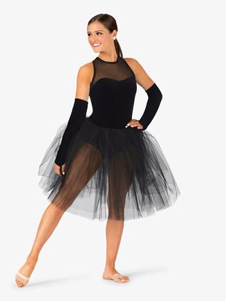 Womens Performance Tank Velvet Sweetheart Tutu Dress - Style No EL103