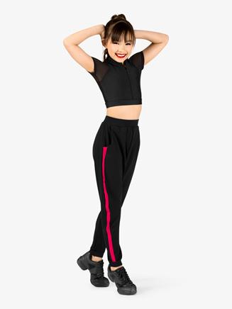 Girls Crop Top and Harem Pant Hip-Hop Costume Set - Style No EL133C