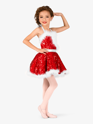"Girls ""Holiday Cheer"" Halter Character Dance Costume Dress - Style No EL134C"