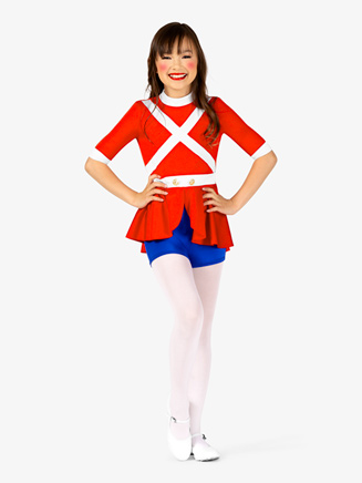 "Girls ""Toy Soldier"" Character Dance Costume Shorty Unitard - Style No EL140Cx"