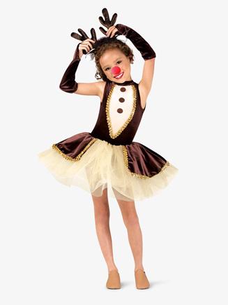 """Girls """"Reindeer Games"""" Character Dance Costume Set - Style No EL142C"""