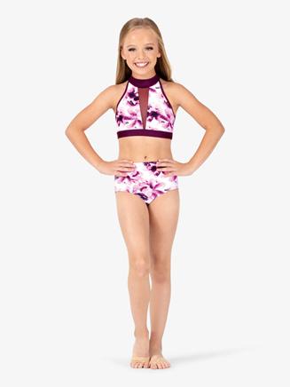 Girls Floral Dance Briefs - Style No ELA10C