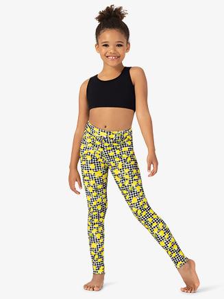 Girls Lemon Print Dance Leggings - Style No ELA40C