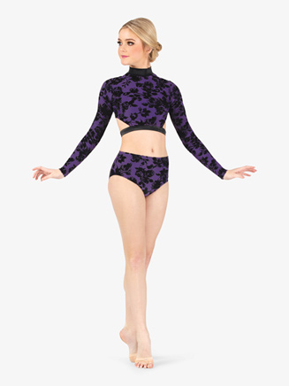 Womens Burnout Velvet Dance Briefs - Style No ELA5