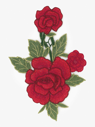Large Embroidered Rose Applique - Style No ERA1