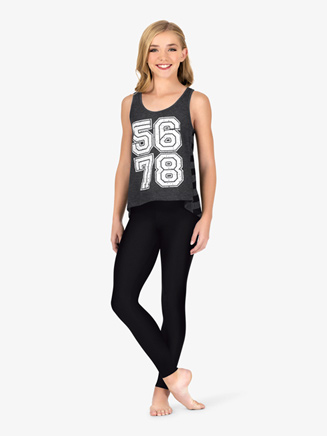 """Girls """"5-6-7-8"""" Graphic Dance Tank Top - Style No FP082C"""