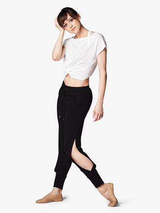 Womens Front Tie Short Sleeve Dance Crop Top - Style No FT5060