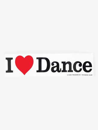 """I love Dance"" Bumper Decal - Style No G286"