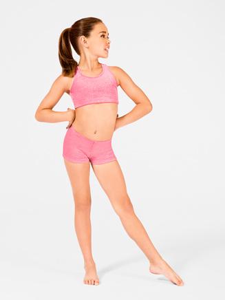"Child ""Stardust"" Velvet Gymnastic Racer Back Bra Top - Style No G558Cx"