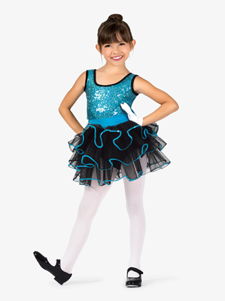 Girls Dual-Tone Sequin Tank Costume Tutu Dress - Style No GRA100