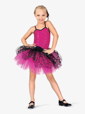 Girls Two-Tone Camisole Costume Tutu Dress - Style No GRA101
