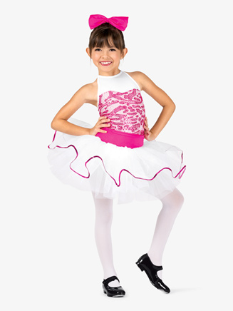 Girls Two-Tone Sequin Tank Costume Tutu Dress - Style No GRA103