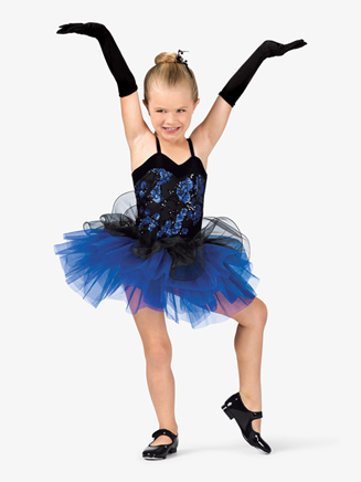 Girls Two-Tone Sequin Camisole Costume Tutu Dress - Style No GRA104