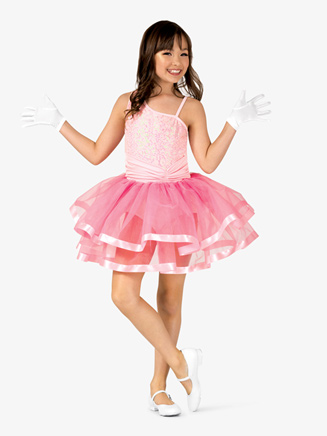 Girls Asymmetrical Sequin Costume Tutu Dress - Style No GRA124C