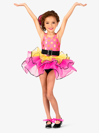 Girls Three-Tone Tank Costume Tutu Dress - Style No GRA130C