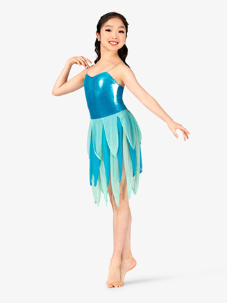 Girls 2-Tone Metallic Camisole Fairy Character Costume Dress Set - Style No GRA131C