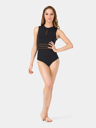 Adult Mesh Insert Performance Tank Leotard - Style No ING102