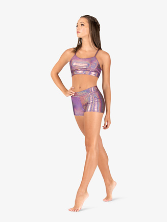 Womens Iridescent Metallic Performance Shorts - Style No ING131