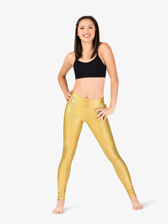 Womens Iridescent Metallic High Waist Performance Leggings - Style No ING135