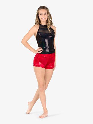 Womens Team Sequin Dot Velvet Shorts - Style No ING216