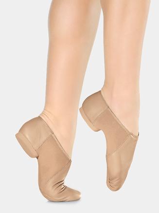 Girls Slip On Split-Sole Jazz Shoe - Style No JZ45C