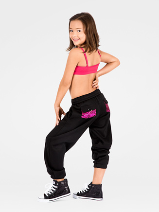 Metallic Pocket Child Sweatpant - Style No K3800SIL