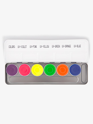 Aquacolor UV Dayglow Temporary Color Palette - Style No K5177