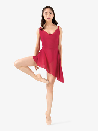 Womens Aymmetrical Hem Tank Ballet Dress - Style No KH1709M