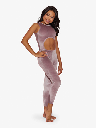 "Womens ""All Zipped Up"" Full-Length Tank Dance Unitard - Style No KZ1111"