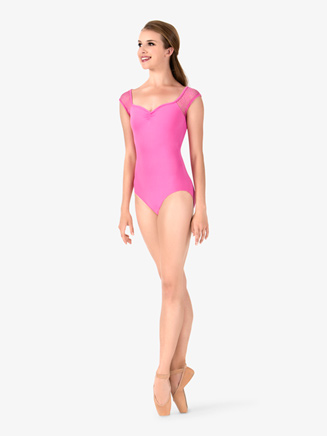 Womens Lace Cap Sleeve Leotard - Style No L1170