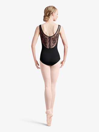 Womens Vine Flocked Mesh Tank Leotard - Style No L8935