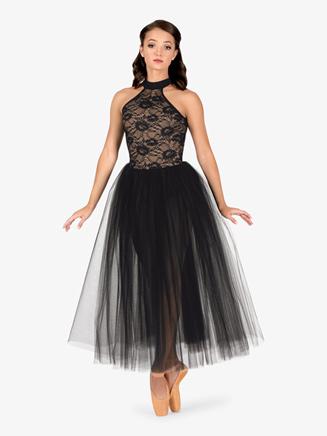 Womens Ballet Floral Lace Tutu Dress - Style No LC211