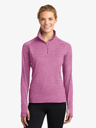 Ladies Plus 1/2 Zip Pullover Jacket - Style No LST850Px