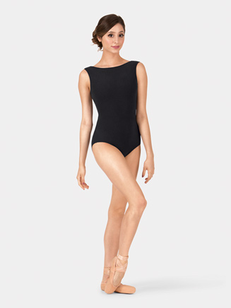 Adult Brushed Cotton Wide Neck Tank Leotard - Style No LUB213
