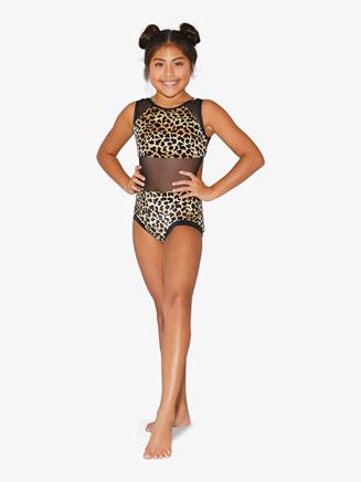 Girls Leopard Print Tank Leotard - Style No LV6000C