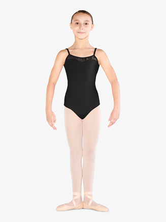 Girls Glitter Mesh Crisscross Camisole Leotard - Style No M1218C