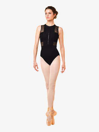 Womens Geometric Mesh Tank Leotard - Style No M3064LM
